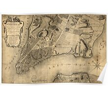 American Revolutionary War Era Maps 1750-1786 971 To His Excellency Sr Henry Moore Bart captain general and governour in chief in & over the Province of New Poster