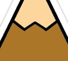 Mountains Orange Sticker