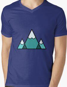 Mountains Blue Mens V-Neck T-Shirt
