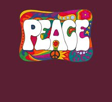 Psychedelic Peace and Love Unisex T-Shirt