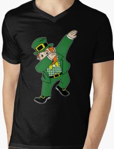 Dabbin' Leprechaun Mens V-Neck T-Shirt
