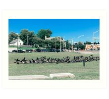 A Flock of Providence Geese Art Print