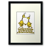 Sneetches are Sneetches Framed Print