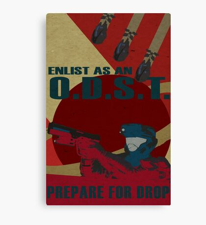 Enlist As An O.D.S.T. Red Canvas Print