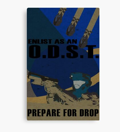 Enlist As An O.D.S.T. Blue Canvas Print