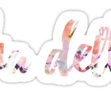 Alpha Delta Pi Floral Sticker