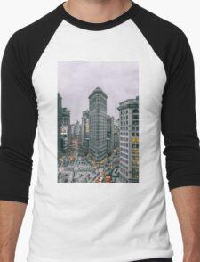 Flatiron New York City  Men's Baseball ¾ T-Shirt
