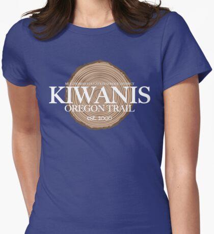 Kiwanis Oregon Trail (fcw) Womens Fitted T-Shirt