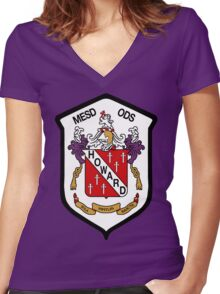 Howard Coat of Arms Women's Fitted V-Neck T-Shirt