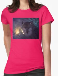 wolf 2 Womens Fitted T-Shirt