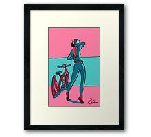 Bike Gurl Framed Print