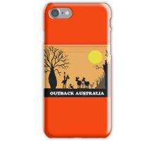 Aussie outback with boab tree and stockman design iPhone Case/Skin