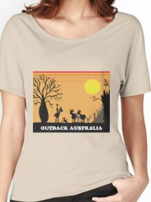 Aussie outback with boab tree and stockman design Women's Relaxed Fit T-Shirt