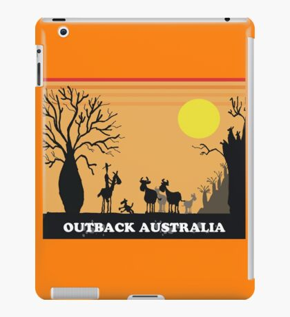 Aussie outback with boab tree and stockman design iPad Case/Skin