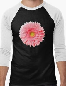 Flower Power, Pink Fresh Gerbera Men's Baseball ¾ T-Shirt