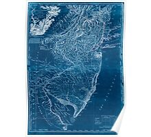 American Revolutionary War Era Maps 1750-1786 935 The Province of New Jersey divided into East and West commonly called the Jerseys 3 Inverted Poster