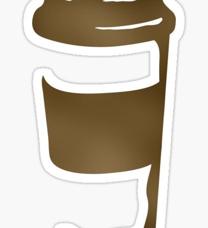 travel coffee cup Sticker