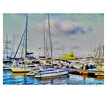 Trapani, the port Photographic Print