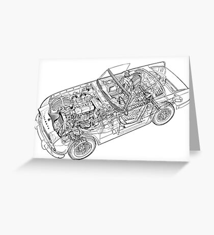 Triumph TR5 Greeting Card
