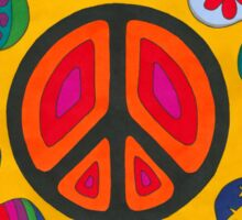 Psychedelic Flaming Peace Sticker