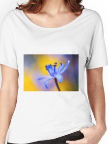 Blue romantic flower Women's Relaxed Fit T-Shirt