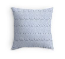 Serenity  Blue Faux Lace  Throw Pillow