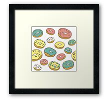 Pattern with donuts Framed Print