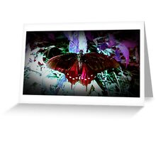 Crimson Butterfly Greeting Card