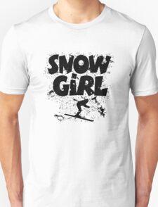 Snowgirl Ski Retro Unisex T-Shirt