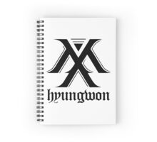 Monsta X logo + Hyungwon Spiral Notebook