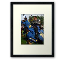 Charging Into Battle Framed Print