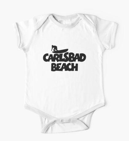 Carlsbad Beach Surfing One Piece - Short Sleeve