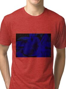 Blue Black Crisps Watercolor Tri-blend T-Shirt