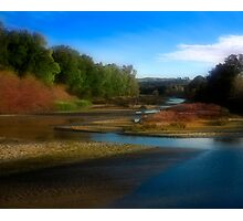 Landscape with River Photographic Print