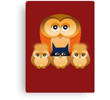THE OWL FAMILY Canvas Print