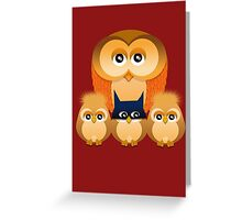 THE OWL FAMILY Greeting Card
