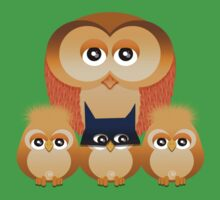 THE OWL FAMILY One Piece - Short Sleeve