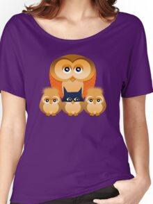 THE OWL FAMILY Women's Relaxed Fit T-Shirt