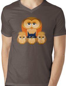 THE OWL FAMILY Mens V-Neck T-Shirt