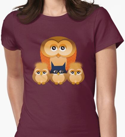 THE OWL FAMILY Womens Fitted T-Shirt