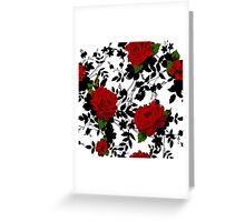 Romantic floral background with Red Roses.  Greeting Card