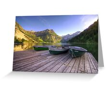 Vilsalpsee Greeting Card
