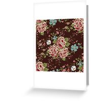 Vintage floral cute wallpaper  Greeting Card