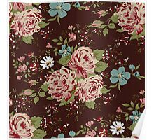 Vintage floral cute wallpaper  Poster