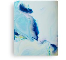Watercolour abstract Swirl 2, blue,yellow,white Canvas Print