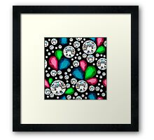 Amazing template design on diamonds background.  Framed Print