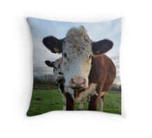 Cow can we help Moo? Throw Pillow