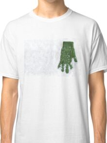 Glove Laying in Snow Classic T-Shirt