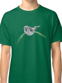 Humpback whale with wings (green&rose) Classic T-Shirt