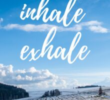 Inhale/Exhale Sticker